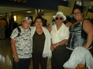 last summer: lil bro, myself & our grandparents
