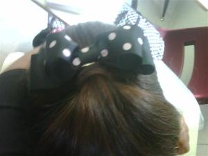 Polka dotted clip