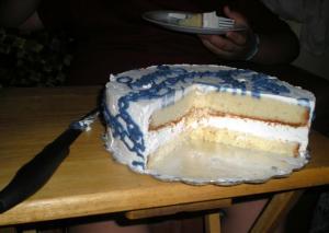 Dented cake